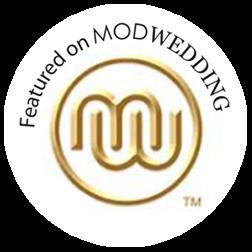 Featured on MODWEDDING badge